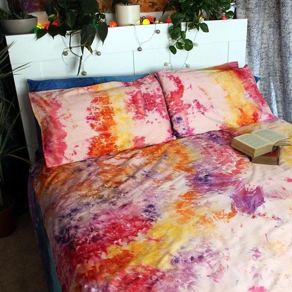 Lenzuola colorate tie-dye di DrowForToffee