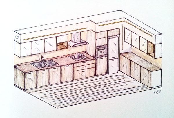 Progettare la cucina consigli pratici for Disegnare cucina 3d online