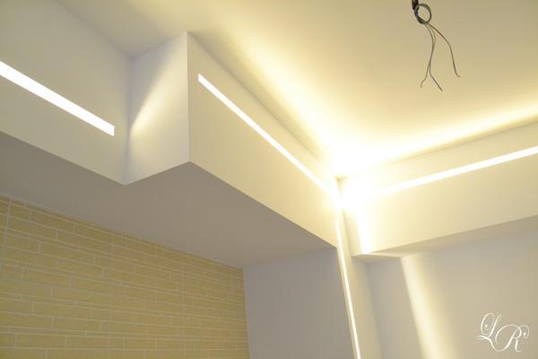 Progetto cucina e sistema illuminotecnico