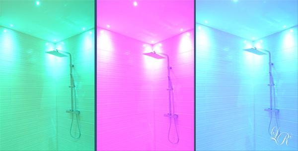 Realizzare una cabina doccia con cromoterapia - Box doccia cromoterapia ...