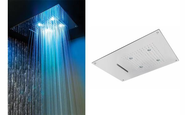 Realizzare una cabina doccia con cromoterapia - Soffione della doccia ...