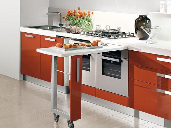 Penisola estraibile in cucina for Penisola mobile cucina