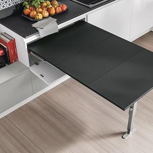 Penisola estraibile in cucina - Tavolo cucina a scomparsa ...