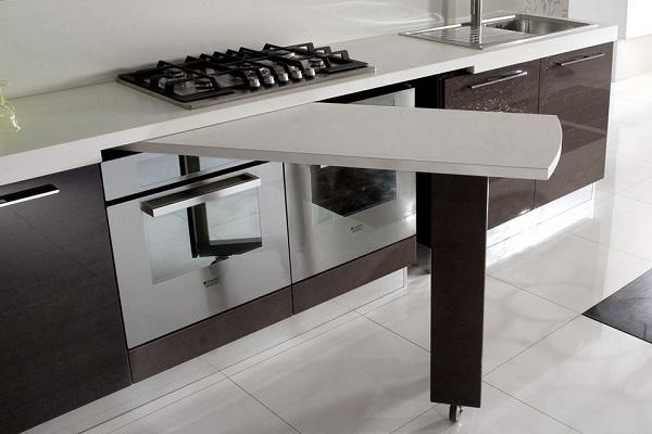 Penisola estraibile in cucina - Cucina tavolo estraibile ...