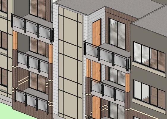 Consolidamento volumi chiusi: balconi non a sbalzo