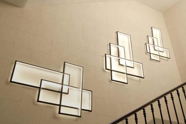 Illuminazione a parete diffusa e funzionale Trio LT