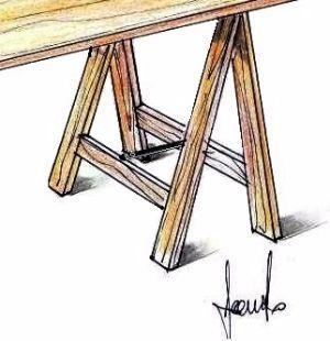 Cavalletti in legno regolabili