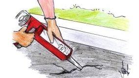 Manutenzione di un viale asfaltato in fai da te