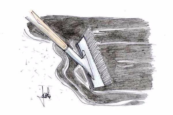 manutenzione vialetto: stesura strato isolante di finitura
