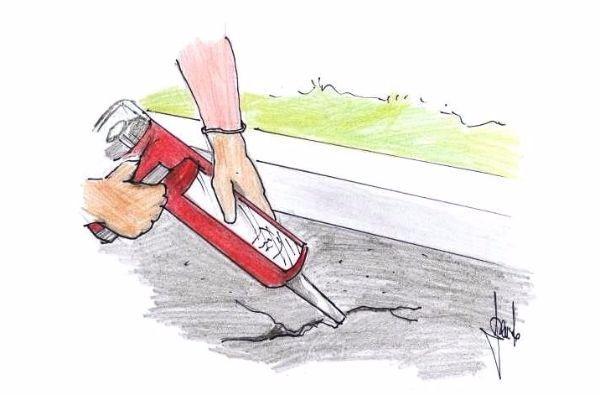 Riparazione superficie asfaltata, di un viale privato