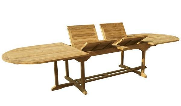 Tavolo da giardino allungabile Olimpo di Il Giardino di Legno
