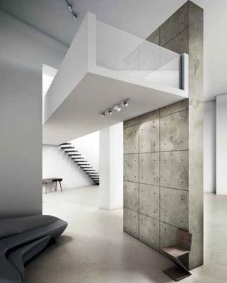 Pittura effetto metallizzato per interni for Parete effetto cemento