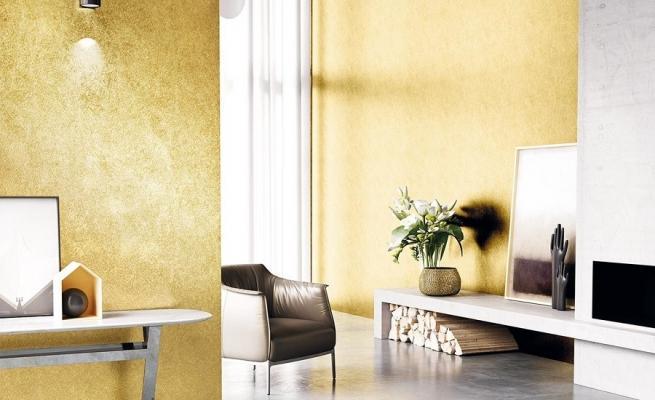 Pittura effetto metallizzato per interni for Colorificio san marco