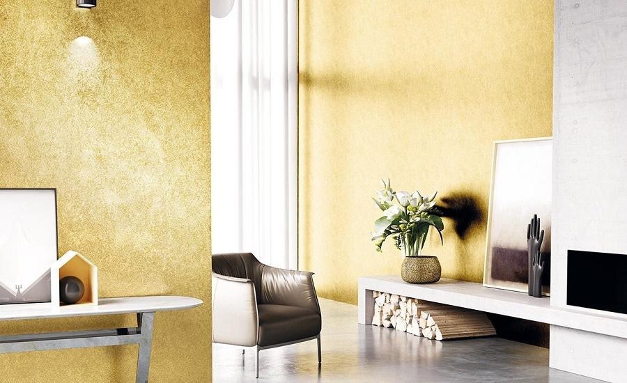 Eleganza con la pittura effetto metallico dorato Grimani di Colorificio San Marco