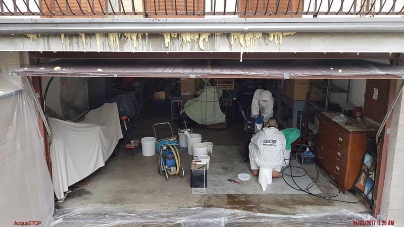 Infiltrazioni d'acqua in cantina e garage: intervento con AcquaSTOP
