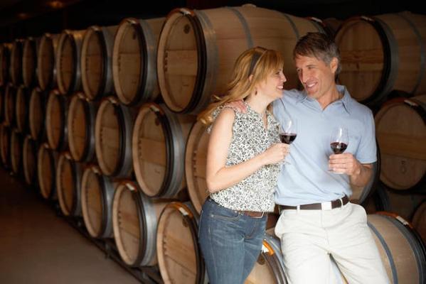 Cantina e degustazione buon vino