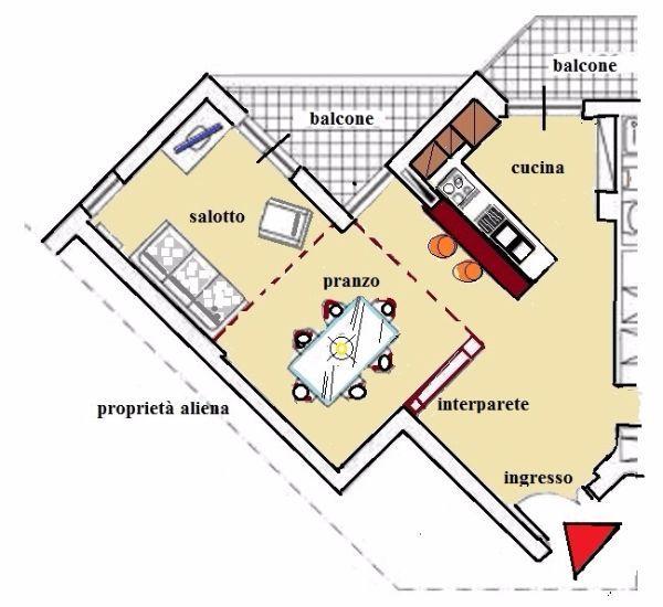 Zona giorno progettazione degli spazi for Progetto zona giorno