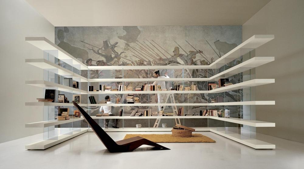 Libreria Air Shelf Lago: interparete per spazi giorno a tutto respiro
