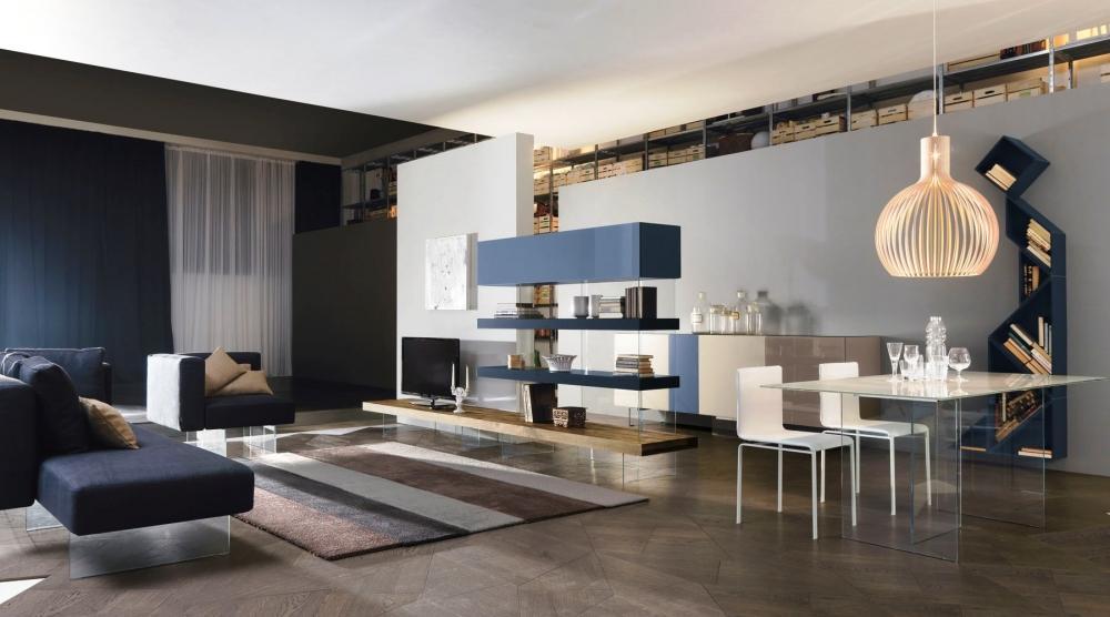 Living open space arredato con Air sofa table, by Lago