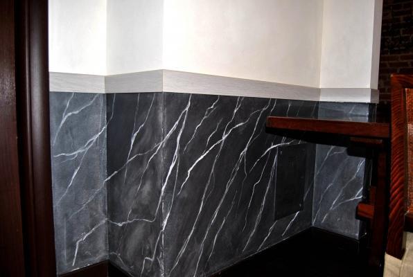 Marmorino a finto marmo realizzato da Giuseppe D'Amico.