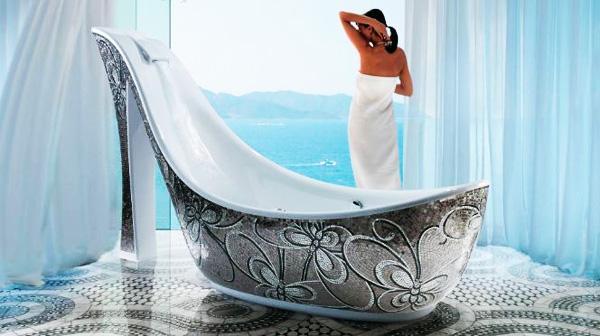 Rivestimento vasca da bagno - Vasca da bagno in vetro ...