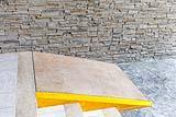 Costruire una piccola rampa in cemento