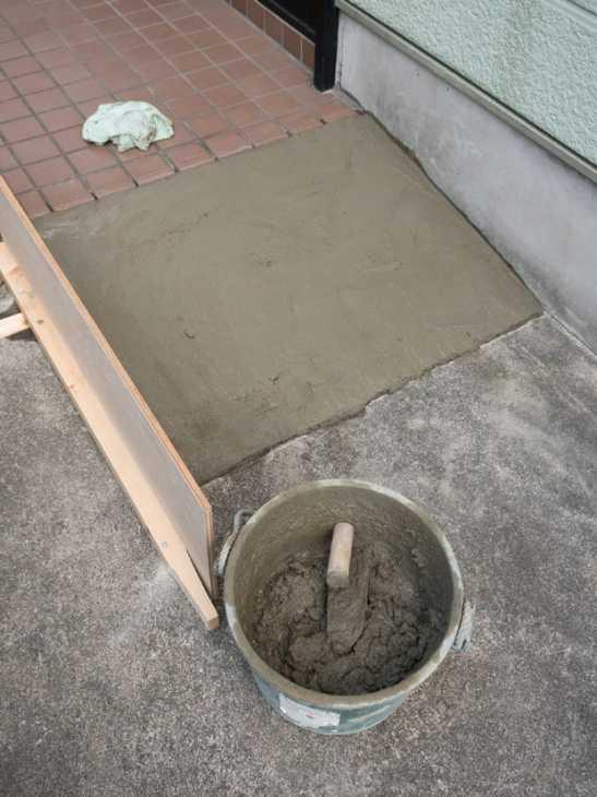 Piccola rampa in cemento