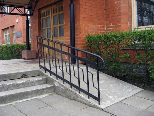 Rampa realizzata per eliminare le barriere architettoniche
