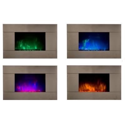 Camino elettrico a LED fiamma vari colori,- British Fires