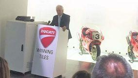 Piastrelle in ceramica a marchio Ducati, in collaborazione con GS Luxury Group