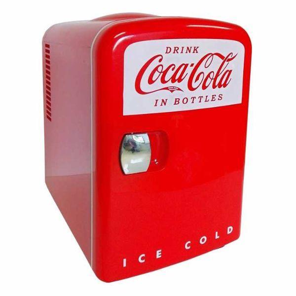 Mini frigo rosso della Coca Cola