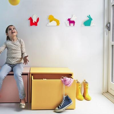 Appendiabiti per camere dei bambini La Fontaine Raven&Fox