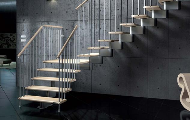 Scala in legno e alluminio Nika CZ di Mobirolo