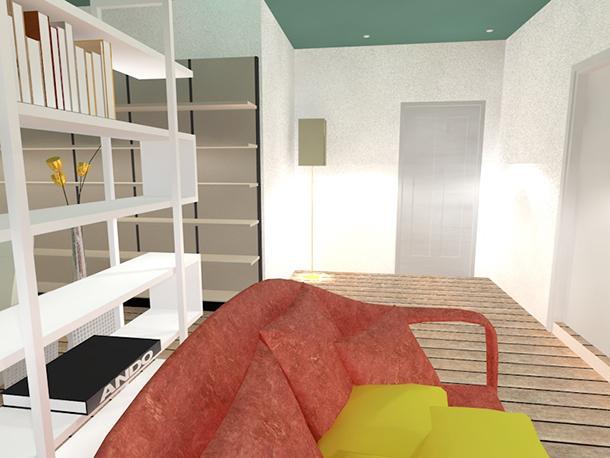 Progettazione loft 45 mq: ingresso