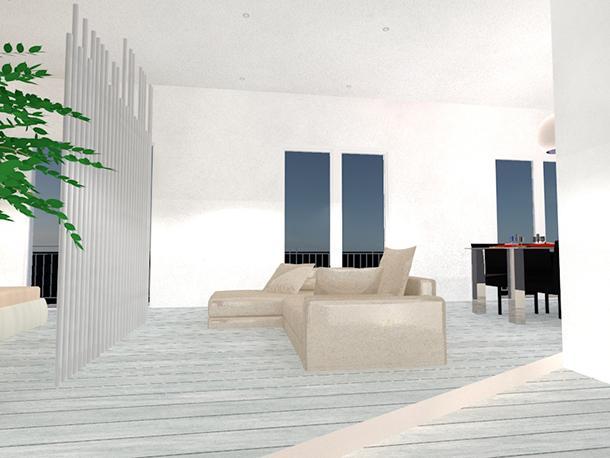 Progettare un loft: gradino di ingresso