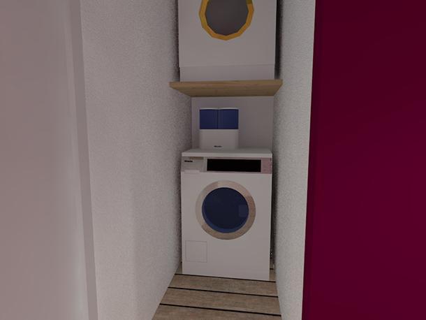 Servizio lavanderia in un mini loft