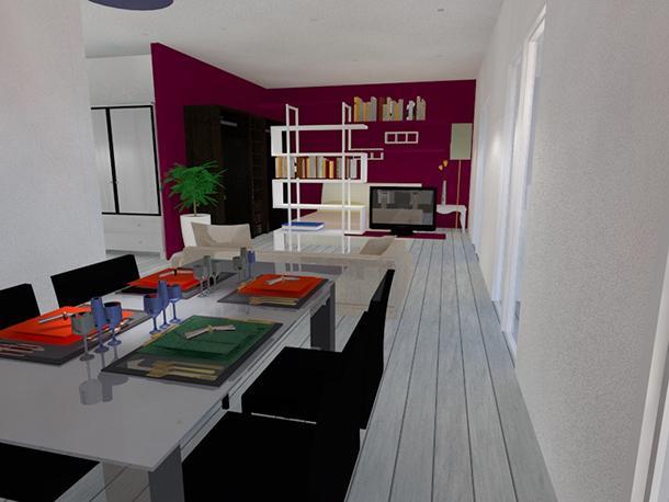 Loft: vista del tavolo in cucina