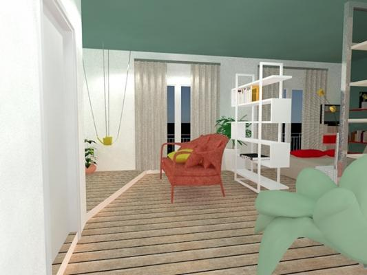 Progetto loft ingresso