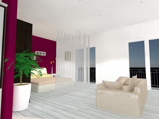 Vista progetto loft open
