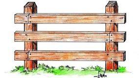 Recinzione in legno per il giardino