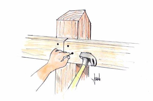 Staccionata in legno: fissaggio fai da te