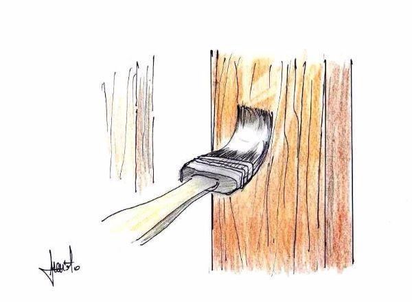 Verniciatura recinzione legno