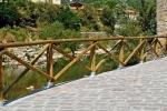 Staccionata Castello Marinelli: tipico design a incrocio