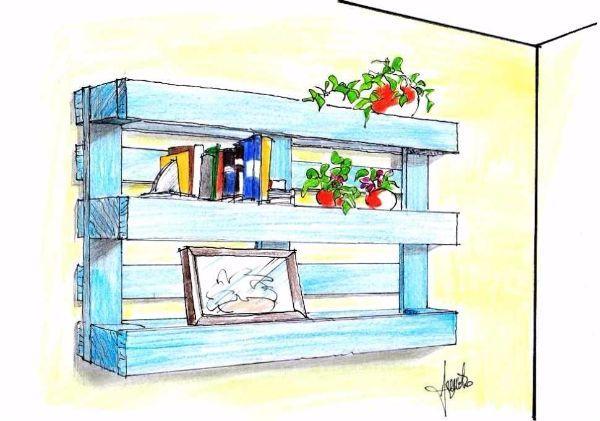 Creare una libreria con i pallet in legno