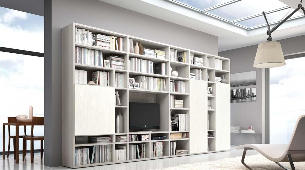 Foto libreria legno fai da te for Immagini librerie d arredamento