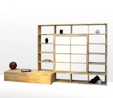 Libreria Haru Cinius con base contenitore