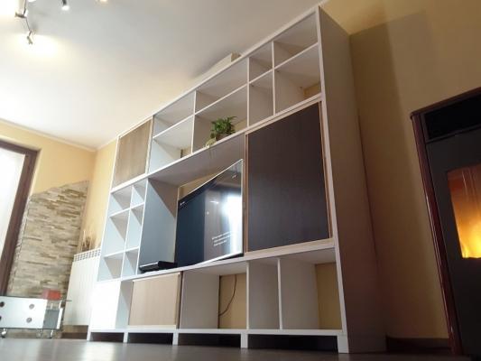 Cinius libreria in legno laccato bianco
