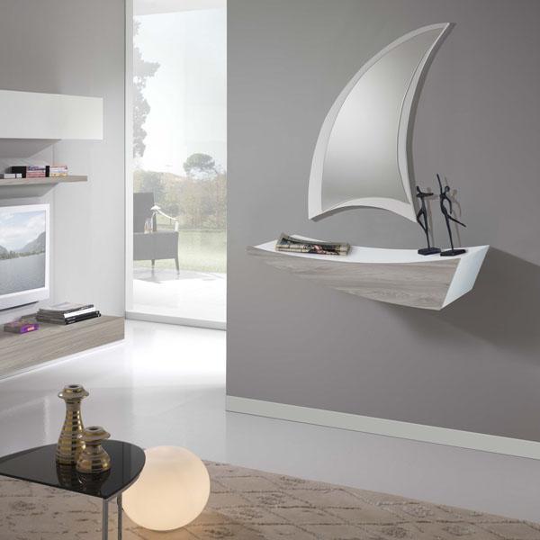Mobile ingresso di design modello Boat, su Diotti Boat