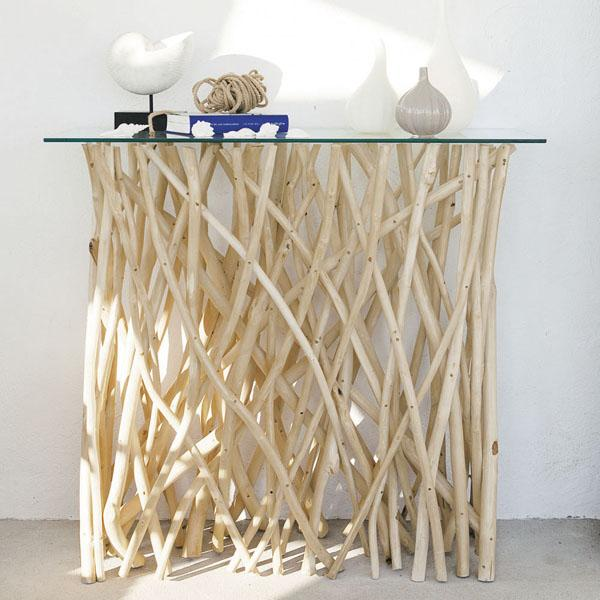 Consolle ingresso in tek e vetro, by Maisons du Monde