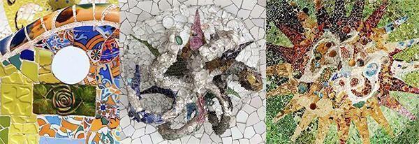 I mosaici tridimensionali di Park Güell progettati da Gaudì